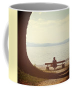 Woman On The Shore Of A Lake Coffee Mug