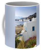 Woman On The Terrace - Mykonos Coffee Mug