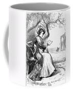 Woman Reading, 1876 Coffee Mug