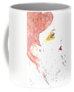 Woman Smile Watercolor Painting Coffee Mug