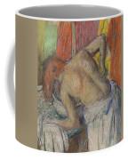 Woman Washing Her Back Coffee Mug by Edgar Degas