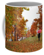 Woman With A Red Umbrella Coffee Mug