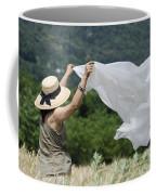 Woman With A White Sheet Coffee Mug
