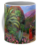Woman With Child On A Donkey Coffee Mug
