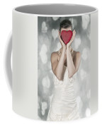 Woman With Heart Coffee Mug