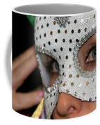 Woman With Mask Coffee Mug by Henrik Lehnerer
