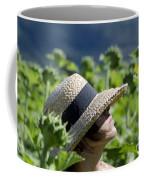 Woman With Straw Hat Coffee Mug