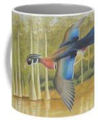 Wood Duck Flying Coffee Mug