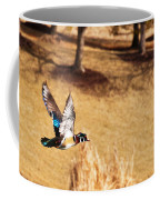 Wood Duck In Fflight Coffee Mug