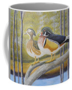 Wood Duck Pair At The Lake Coffee Mug