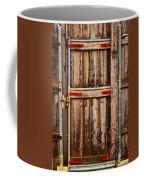 Wood Fence Door Coffee Mug