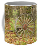 Wood Spoked Wheel Coffee Mug