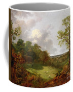Wooded Landscape With A Cottage - Sheep And A Reclining Shepherd Coffee Mug