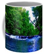 Wooded Waterfall Coffee Mug by Bill Cannon
