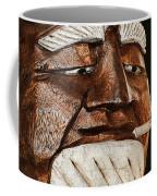 Wooden Head With Cigarette Coffee Mug