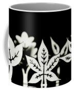 Wooden Leaf Shapes In Black And White Coffee Mug