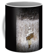 Wooden Sign In Winter By The Yankee Springs Recreation Area In Michigan Coffee Mug