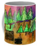 Woods Cut Logs And A Sunset Coffee Mug