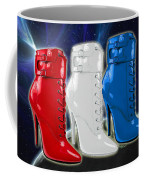World Domination In Red White And Blue Boots Coffee Mug