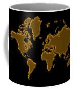 World Map Gold Coffee Mug