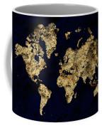 World Map Rock Coffee Mug