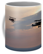 World War I Triplanes In Flight Coffee Mug