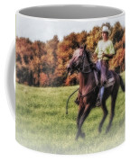 Wrangler And Horse Coffee Mug by Susan Candelario