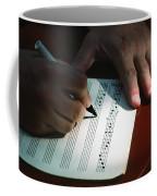 Writing Music Coffee Mug