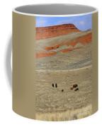 Wyoming Red Cliffs And Buffalo Coffee Mug