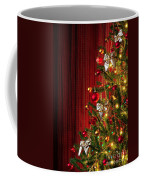 Xmas Tree On Red Coffee Mug by Carlos Caetano