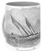 Yacht Race, 1854 Coffee Mug