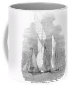 Yacht Race, 1855 Coffee Mug