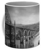 Yaquina Bay Bridge Oregon B And W Coffee Mug