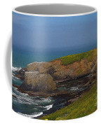 Yaquina Head Lighthouse And Bay - Posterized Coffee Mug