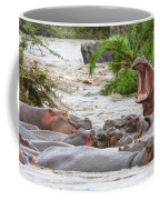 Yawning Hippo Hippopotamus Amphibius Coffee Mug