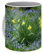 Yellow And Blue Flowers Coffee Mug
