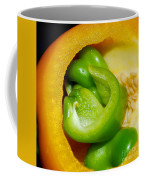 Yellow And Green Nested Pepper Coffee Mug