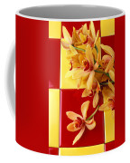 Yellow And Red Orchids  Coffee Mug