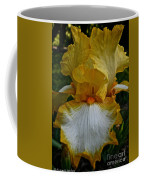 Yellow And White Iris Coffee Mug