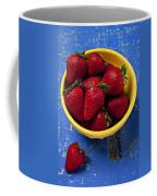 Yellow Bowl Of Strawberries Coffee Mug