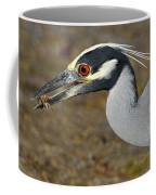 Yellow Crowned Night Heron With Catch Coffee Mug