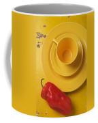 Yellow Cup And Plate Coffee Mug