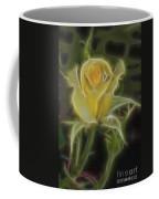 Yellow Fractalius Rose Coffee Mug