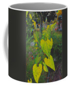 Yellow Heart Leaves IIi Photoart Coffee Mug