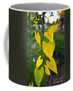 Yellow Heart Leaves  Photoart I Coffee Mug