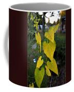 Yellow Heart Leaves Photoart II Coffee Mug