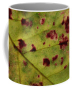 Yellow Leaf With Red Spots 2 Coffee Mug