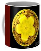 Yellow Lily Kaleidoscope Under Glass Coffee Mug