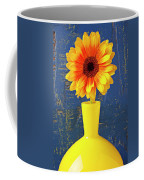Yellow Mum In Yellow Vase Coffee Mug