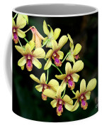 Yellow Orchid Cascade Coffee Mug